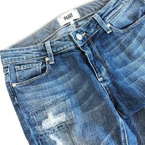 Paige Distressed Skyline Skinny Peg Jeans 28